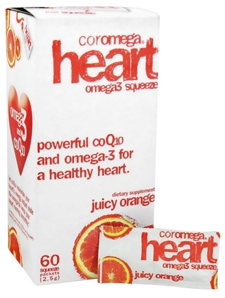 DROPPED: Coromega - Heart Omega3 Squeeze with CoQ10 Juicy Orange - 60 Packet(s)