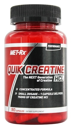 DROPPED: MET-Rx - Quik-Crete Creatine HCl 750 mg. - 90 Capsules