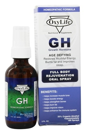 OxyLife Products - GH Growth Hormone Oral Spray - 2 oz.