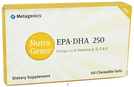 DROPPED: Metagenics - Nutra Gems EPA-DHA 250 - 60 Chewable Gels CLEARANCE PRICED