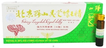 DROPPED: Superior Trading Company - Peking Lingchih Royal Jelly - 10 x 10 cc Vials