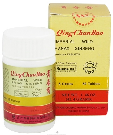 DROPPED: Superior Trading Company - Qing Chun Bao Imperial Wild Panax Ginseng - 80 Tablets