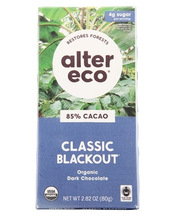 Alter Eco - Organic Chocolate Dark Blackout 85% Cocoa - 2.82 oz.