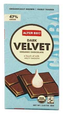 Alter Eco - Organic Chocolate Dark Velvet 47% Cocoa - 2.82 oz.