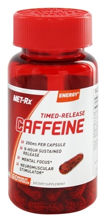 DROPPED: MET-Rx - Timed-Release Caffeine 200mg - 60 Beadlet Capsules