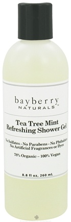 DROPPED: Bayberry Naturals - Shower Gel Tea Tree Mint Refreshing - 8.8 oz. CLEARANCED PRICED