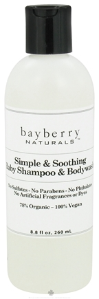 DROPPED: Bayberry Naturals - Baby Shampoo & Bodywash Simple & Soothing - 8.8 oz. CLEARANCED PRICED