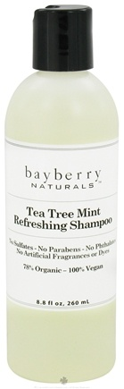 DROPPED: Bayberry Naturals - Shampoo Tea Tree Mint Refreshing - 8.8 oz. CLEARANCED PRICED