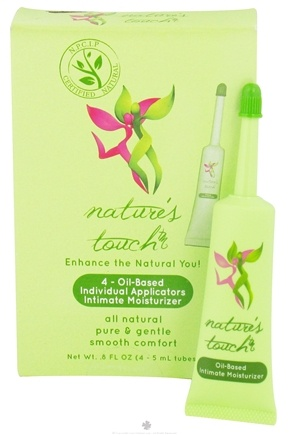 DROPPED: Nature's Touch - Intimate Moisturizer Oil-Based Individual Applicators - 4 x 5 ml Tubes CLEARANCE PRICED