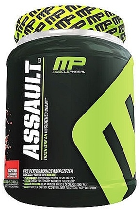 DROPPED: Muscle Pharm - Assault Pre-Performance Amplifier Raspberry Lemonade - 3.04 lbs.