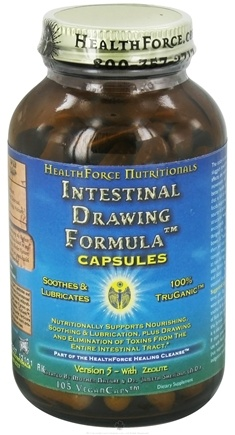 DROPPED: HealthForce Nutritionals - Intestinal Drawing Formula Version 5 with Zeolite - 105 Vegetarian Capsules CLEARANCE PRICED