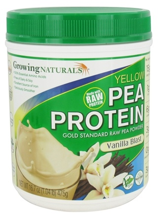 Growing Naturals - Raw Yellow Pea Protein Vanilla Blast - 16.7 oz.