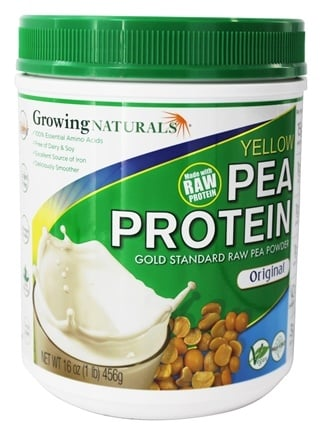 Growing Naturals - Raw Yellow Pea Protein Original - 16 oz.
