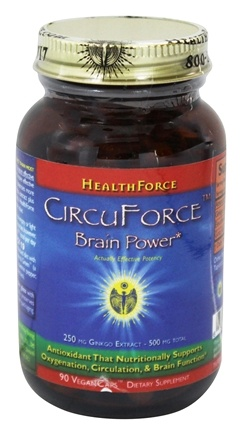 HealthForce Nutritionals - CircuForce Brain Power with Ginkgo Extract 500 mg. - 90 Vegetarian Capsules