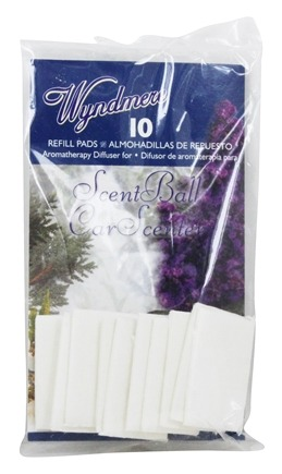 Wyndmere Naturals - Aromatherapy Diffuser ScentBall/CarScenter Refill Pads - 10 Pad(s)