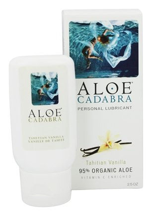 DROPPED: Aloe Cadabra - Natural Aloe Personal Lubricant Tahitian Vanilla - 2.5 oz. CLEARANCE PRICED