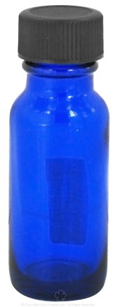 Wyndmere Naturals - Cobalt Blue Glass Bottle with Cap - 0.5 oz.