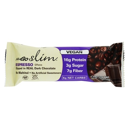 NuGo Nutrition - Slim Dark Chocolate Bar Espresso - 1.59 oz.