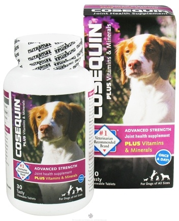 DROPPED: Cosequin - Advanced Strength Joint Health Supplement Plus Vitamins & Minerals For Dogs - 30 Chewable Tablets formerly Cosequin Multi for Small and Large Dogs