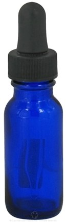 Wyndmere Naturals - Cobalt Blue Glass Bottle with Dropper - 0.5 oz.