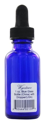 DROPPED: Wyndmere Naturals - Cobalt Blue Glass Bottle with Dropper - 1 oz.