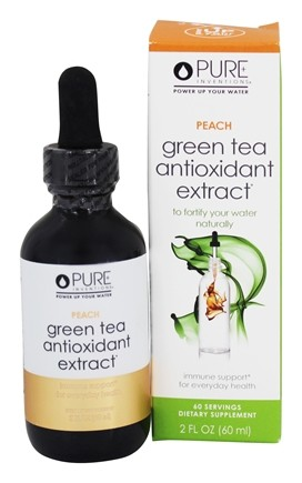 Pure Inventions - Green Tea Liquid Dropper Peach - 2 oz.