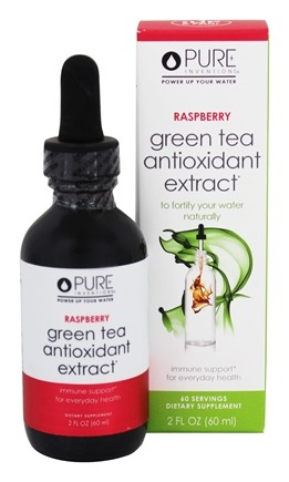 Pure Inventions - Green Tea Liquid Dropper Raspberry - 2 oz.