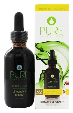 Pure Inventions - Green Tea Liquid Dropper Pineapple and Coconut - 2 oz.