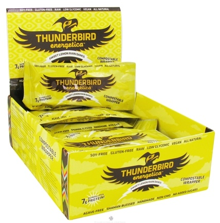 Thunderbird Energetica - Gluten Free Raw Energy Bar Sweet Lemon Rain Dance - 1.7 oz.