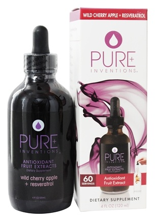 DROPPED: Pure Inventions - Antioxidant Fruit Extracts Liquid Dropper Wild Cherry Apple + Resveratrol - 4 oz.