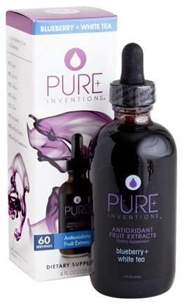 DROPPED: Pure Inventions - Antioxidant Fruit Extracts Liquid Dropper Blueberry + White Tea - 4 oz.