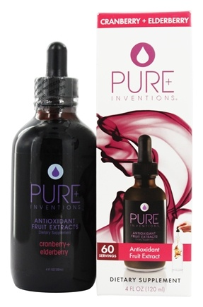 DROPPED: Pure Inventions - Antioxidant Fruit Extracts Liquid Dropper Cranberry + Elderberry - 4 oz.