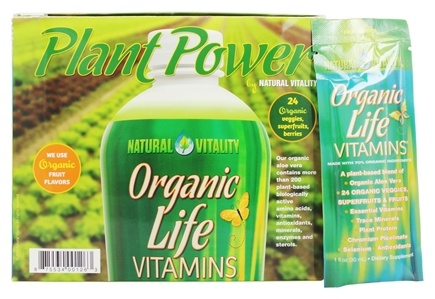 DROPPED: Natural Vitality - Liquid Revolution Organic Life Vitamins Organic Fruit Flavor - 30 Packet(s)