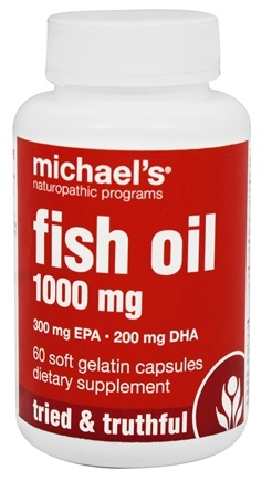 DROPPED: Michael's Naturopathic Programs - Fish Oil 1000 mg. - 60 Softgels CLEARANCE PRICED