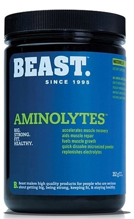 DROPPED: Beast Sports Nutrition - Aminolytes Amino Acid Blend Watermelon - 352 Grams