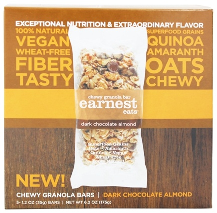 DROPPED: Earnest Eats - Chewy Granola Bars Dark Almond Chocolate - 5 Bars
