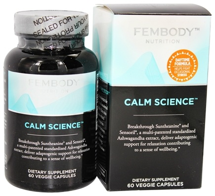 DROPPED: Fembody Nutrition - Calm Science - 60 Vegetarian Capsules CLEARANCE PRICED