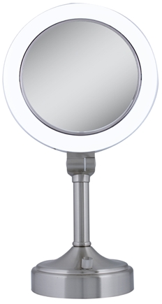 Zadro - Surround Lighted Vanity Mirror SLV410 Satin Nickel