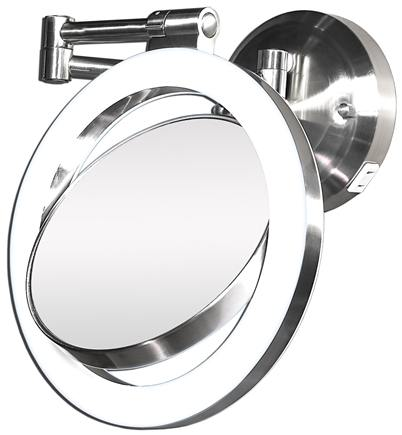 Zadro - Surround Lighted Wall Mirror SLW410 Satin Nickel