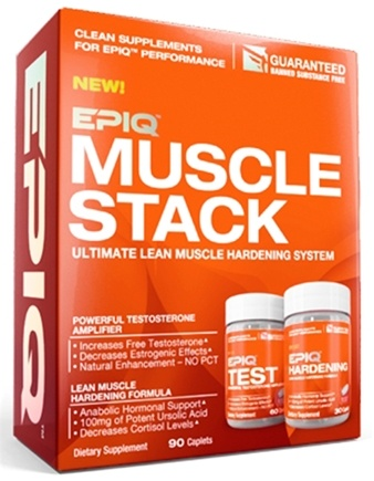 DROPPED: EPIQ - Muscle Stack Ultimate Lean Muscle Hardening System - 90 Caplets CLEARANCE PRICED