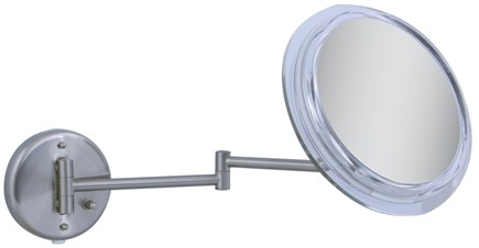 DROPPED: Zadro - Surround Light 7X Wall Mirror SW47 Satin Nickel