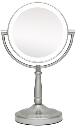 DROPPED: Zadro - LED Lighted 10X Vanity Mirror LEDMV410 Satin Nickel