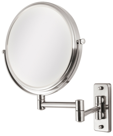 DROPPED: Zadro - Dual-Sided 5X Wall Mirror OVW45 Satin Nickel