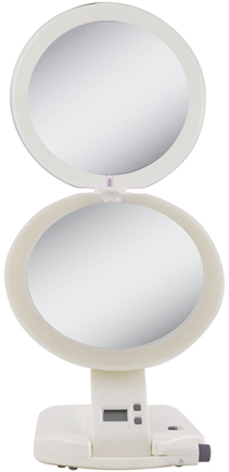 Zadro - Ultimate LED Lighted 10X Make-Up Mirror ULT111 Ivory