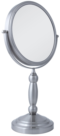 DROPPED: Zadro - Swivel 10X Vanity Mirror VAN410 Satin Nickel