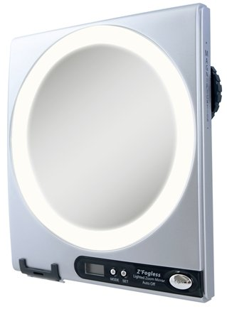 Zadro - Z'Fogless LED Lighted Adjustable Magnification Mirror Z850 Silver
