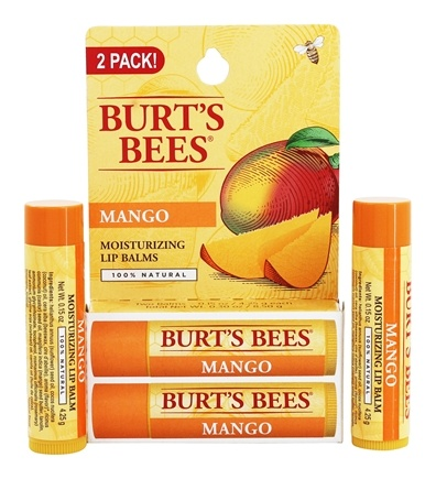 Burt's Bees - Lip Balm Nourishing with Mango Butter - Value Pack 2 x .15 oz. Tubes
