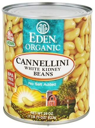 DROPPED: Eden Foods - Organic Cannellini White Kidney Beans - 29 oz. CLEARANCE PRICED