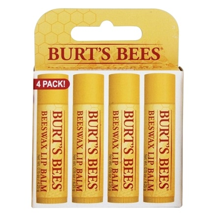DROPPED: Burt's Bees - Beeswax Lip Balm - Value Pack 4 x .15 oz. Tubes