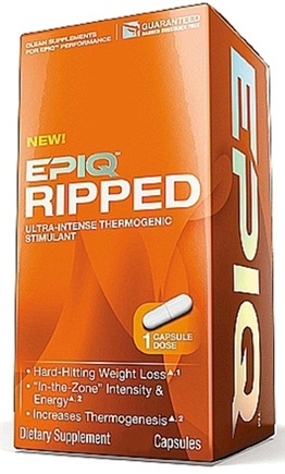 DROPPED: EPIQ - Ripped Ultra-Intense Thermogenic Stimulant - 120 Capsules CLEARANCE PRICED